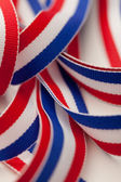 Red White and Blue Ribbon — Foto Stock
