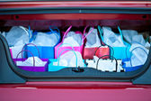 Shopping Bags in Car — Stock Photo