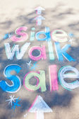 Sidewalk Sale — Stock Photo