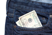 Money in Pants Pocket — Stock Photo