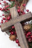 деревянный крест — Стоковое фото