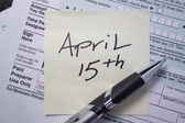 Tax Due Date — Stock Photo