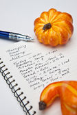 Thanksgiving Dinner Shopping List — Stock Photo