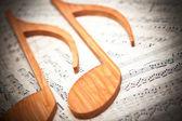 Fogli di musica — Foto Stock