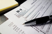 W9 Tax Form — Stock Photo