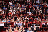 People on the tribune — Stock Photo
