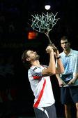 David Ferrer - winner BNP Paribas Masters — Stock Photo