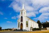 Little white church — Stock Photo