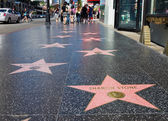 Hollywood walk van roem — Stockfoto