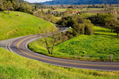 Kronkelende weg — Stockfoto
