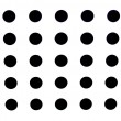 High Resolution White Fabric Black Dots Texture and Background — Stock Photo