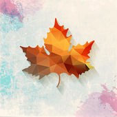 Vector maple symbol made of triangles — Stock Photo