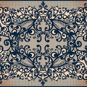 Vintage seamless lace pattern with flowers. — Stock Vector