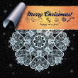 Постер, плакат: Abstract Christmas wallpaper background decoration ornament and a strip for congratulations
