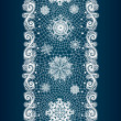 Winter abstract lace from snowflakes. — Stock Vector