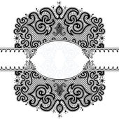 Vector Abstract lace background with strips for congratulations. — Vettoriale Stock