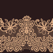 Abstract Lace Ribbon Seamless Pattern. — Wektor stockowy