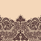 Abstract Lace Ribbon Seamless Pattern. — ストックベクタ