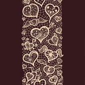 Abstract pattern with lacy valentines seamless pattern — Vettoriale Stock