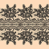 Abstract Lace Ribbon Seamless Pattern. — Vecteur