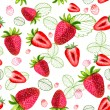 Strawberry vector seamless patterns — Stock Vector #51333933