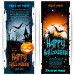 Векторные баннеры Хэллоуин — Cтоковый вектор