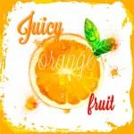 Orange vector juicy patterns — Stock Vector #51333955