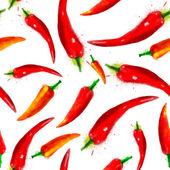 Vector pepper seamless pattern — Stock Vector
