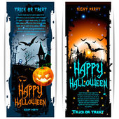 Vector Halloween banners — Stock Vector