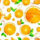 Orange seamless patterns — Stock Vector
