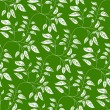 Green seamless background with vibrant leaves — Stock Vector
