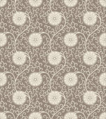 Vintage Seamless background pattern with floral tracery — Vecteur