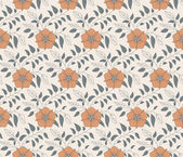 Floral vintage seamless pattern for retro wallpapers — Stock Vector