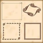 Decoratieve kaders vector. elementen voor ontwerp. — Stockvector