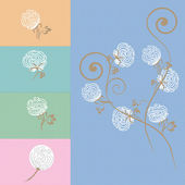 Chintz. Cotton flower background in vector. — Stockvector