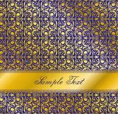 Luxury blue design. Seamless wallpaper pattern. — Stock Vector