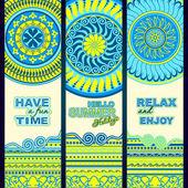 Summer holidays. Tribal ethnic  banners. — Stockvector