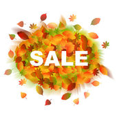 Sale. Autumn leaves. — Stock vektor