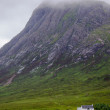 Misty scottish scenery in glencoe — Stock Photo #44243277