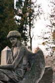 Old statue of angel on the graveyard — Stock Photo