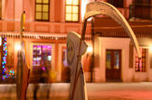 Grim reaper with scythe during halloween — Stockfoto