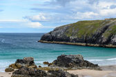 Rocky coastline with sandy beaches — Stock Photo