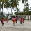 ZANZIBAR, TANZANIA - MARCH 26 2013: local african soccer team du — ストック写真