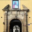 Stock Photo: Pope's window in Krakow