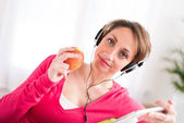 Attractive young women at home — Stock Photo