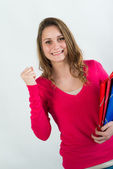 Happy young female student — Stock Photo