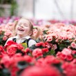 Smiling little gardener — Stock Photo