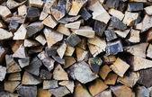 Kupie drewno posiekane — Zdjęcie stockowe