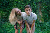 смешные пара — Стоковое фото