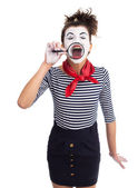 Funny clown girl — Stock Photo